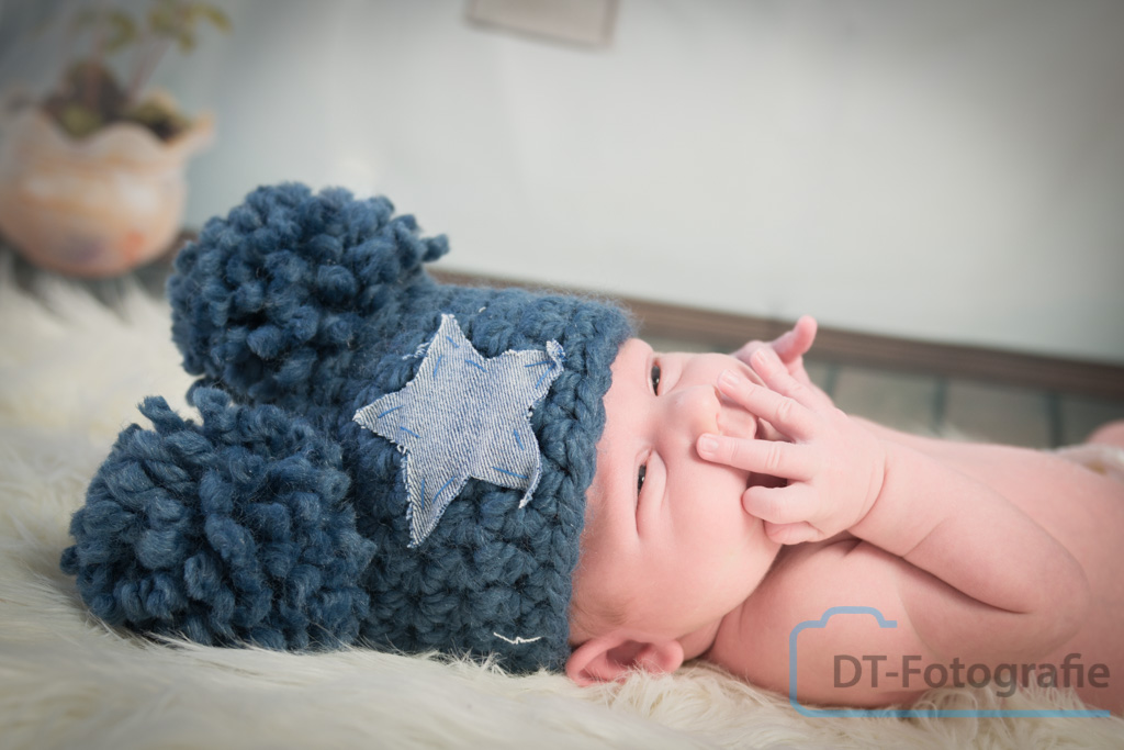 Newborn fotoshoot van Sil